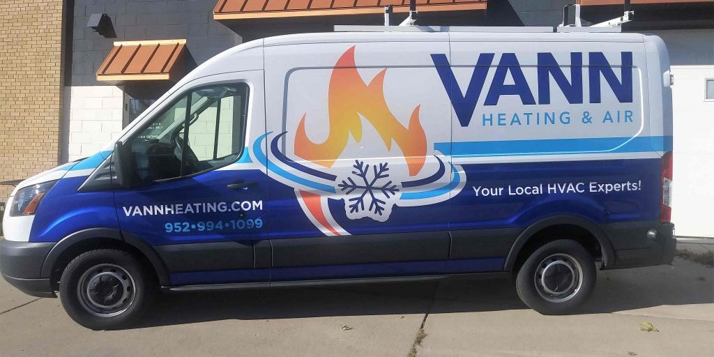 Vann Heating & Air HVAC Van